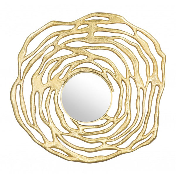 Aqua Round Mirror Gold - Dream art Gallery