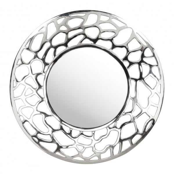 Reef Round Mirror Aluminium - Dream art Gallery