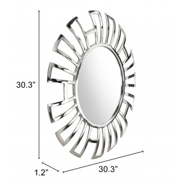 Calmar Round Mirror Aluminium - Dream art Gallery