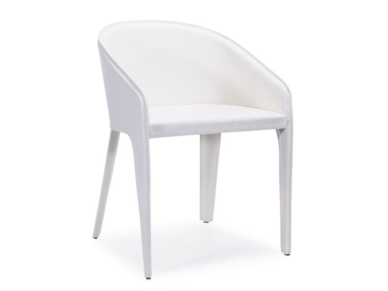 Antonia dining chair white - Dream art Gallery