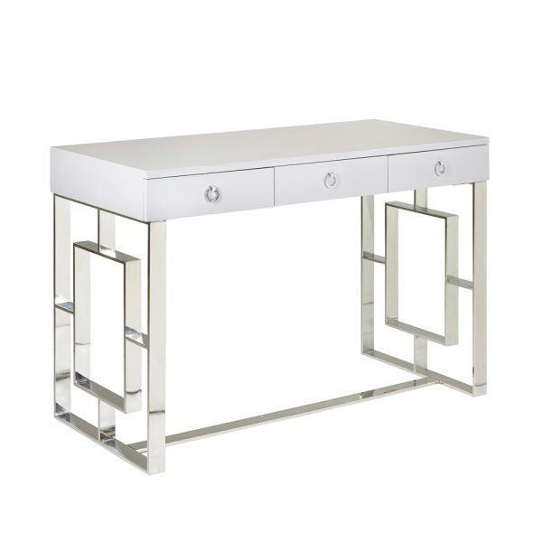 Baccarat White Desk - Dreamart Gallery