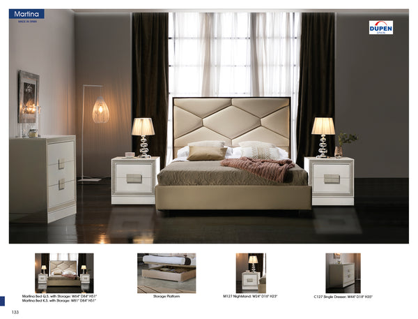 Martina bed with Storage by Dupen Spain - Dream art Gallery