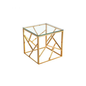 Carole Gold End Table - Dreamart Gallery