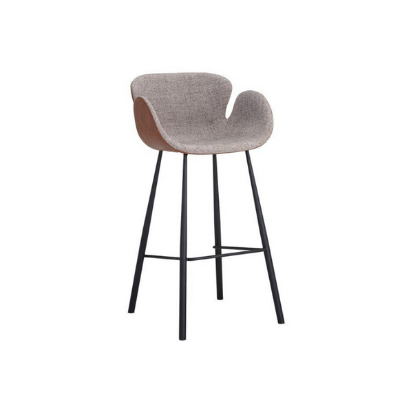 Waldo Barstool - November Grey / Cinnamon Brown