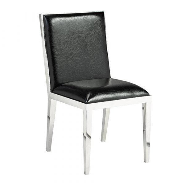 Emario Black Leatherette Dining Chair - Dream art Gallery