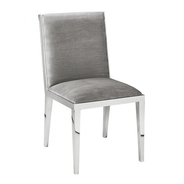 Emario Grey Velvet Dining Chair - Dream art Gallery