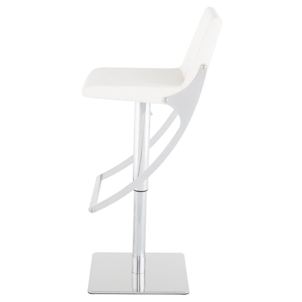 SWING ADJUSTABLE STOOL WHITE - Dream art Gallery