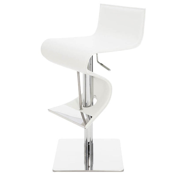 PORTLAND ADJUSTABLE STOOL WHITE - Dream art Gallery