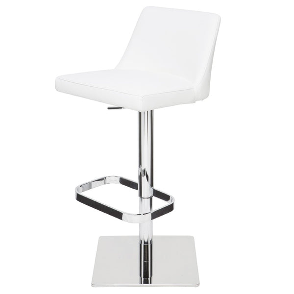 ROME ADJUSTABLE STOOL WHITE - Dream art Gallery