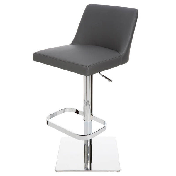 ROME ADJUSTABLE STOOL GREY - Dream art Gallery