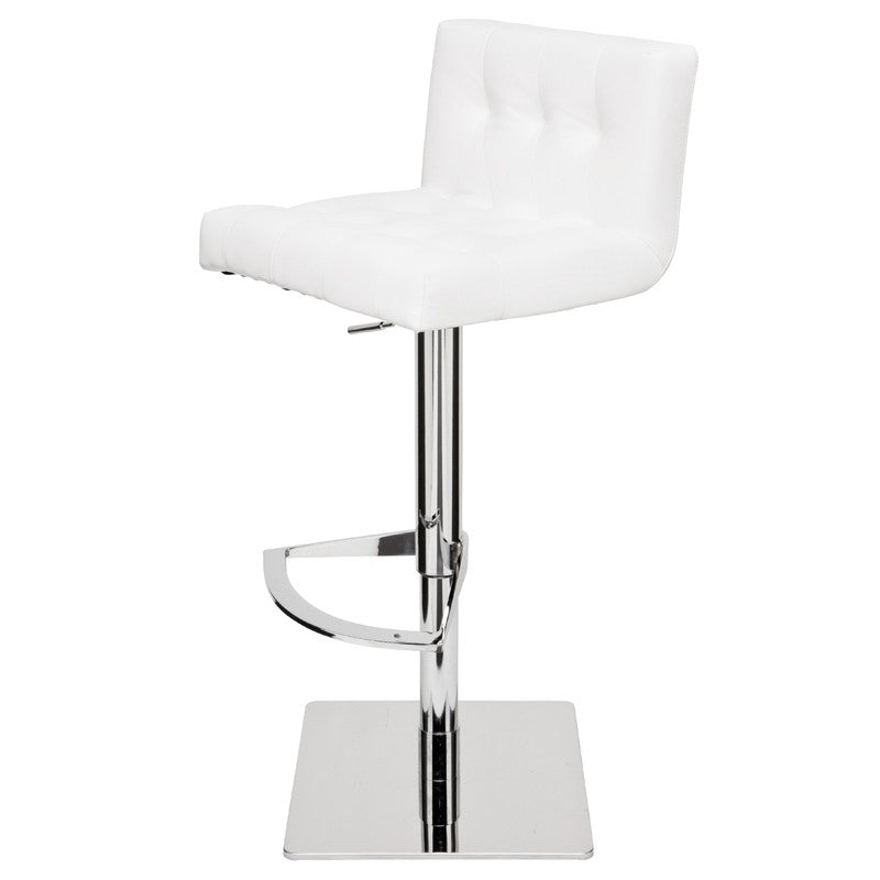 PRESTON ADJUSTABLE STOOL WHITE - Dreamart Gallery