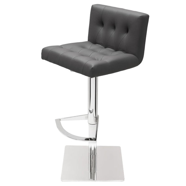 PRESTON ADJUSTABLE STOOL GREY - Dream art Gallery