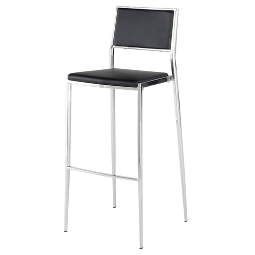 AARON BAR STOOL BLACK