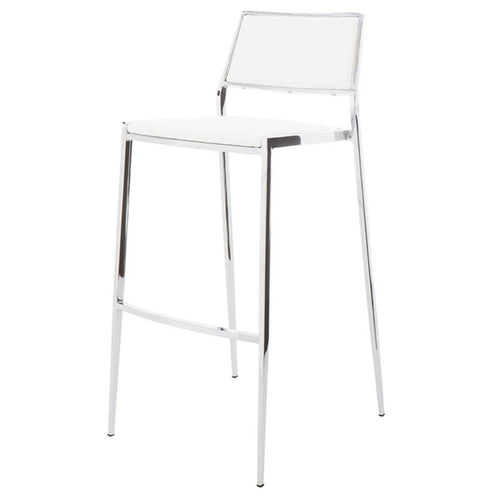 AARON COUNTER STOOL WHITE