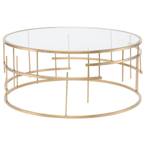 TIFFANY COFFEE TABLE GOLD - Dreamart Gallery