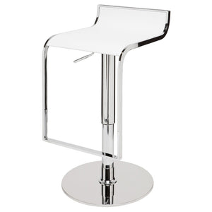 ALEXANDER ADJUSTABLE STOOL WHITE - Dream art Gallery
