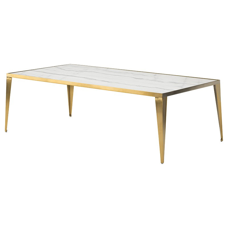 MINK COFFEE TABLE WHITE - Dream art Gallery