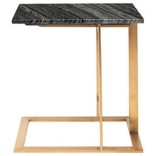 Load image into Gallery viewer, DELL SIDE TABLE BLACK WOOD VEIN - Dreamart Gallery
