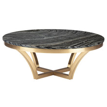 Load image into Gallery viewer, AURORA COFFEE TABLE BLACK WOOD VEIN GOLD - Dream art Gallery