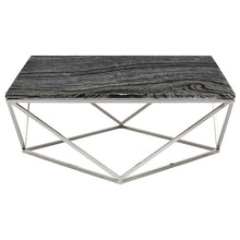 Load image into Gallery viewer, JASMINE COFFEE TABLE BLACK WOOD VEIN - Dream art Gallery