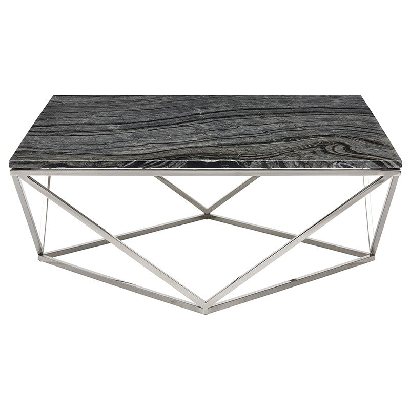 JASMINE COFFEE TABLE BLACK WOOD VEIN - Dream art Gallery