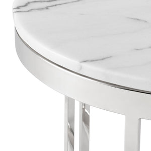 NICOLA SIDE TABLE WHITE - Dreamart Gallery