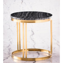 Load image into Gallery viewer, NICOLA SIDE TABLE BLACK WOOD VEIN - Dreamart Gallery