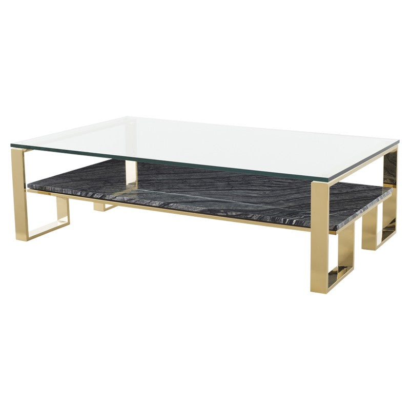 TIERRA COFFEE TABLE BLACK WOOD VEIN - Dream art Gallery
