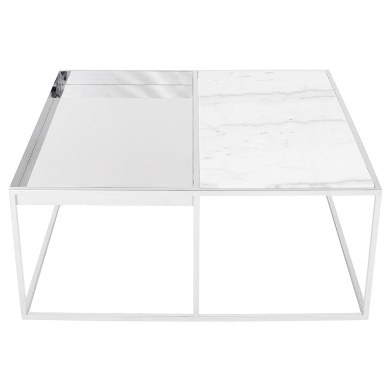 CORBETT COFFEE TABLE WHITE - Dream art Gallery