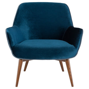GRETCHEN OCCASIONAL CHAIR MIDNIGHT BLUE - Dreamart Gallery