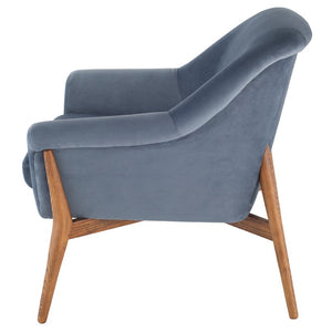 CHARLIZE OCCASIONAL CHAIR DUSTY BLUE - Dream art Gallery