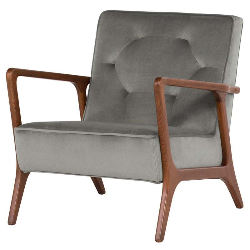 ELOISE OCCASIONAL CHAIR SMOKE GREY - Dream art Gallery