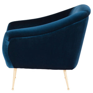 LUCIE OCCASIONAL CHAIR MIDNIGHT BLUE - Dreamart Gallery