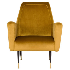 VICTOR OCCASIONAL CHAIR MUSTARD - Dreamart Gallery