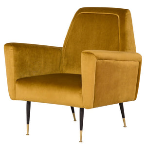 VICTOR OCCASIONAL CHAIR MUSTARD - Dream art Gallery
