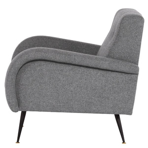 HUGO OCCASIONAL CHAIR SHALE GREY - Dream art Gallery