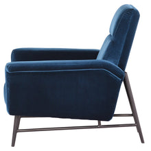 Load image into Gallery viewer, MATHISE OCCASIONAL CHAIR MIDNIGHT BLUE - Dreamart Gallery