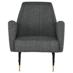VICTOR OCCASIONAL CHAIR DARK GREY TWEED - Dreamart Gallery