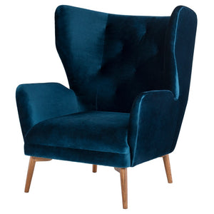 KLARA OCCASIONAL CHAIR MIDNIGHT BLUE - Dreamart Gallery
