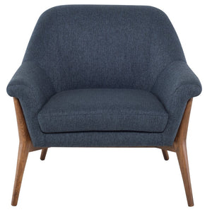 CHARLIZE OCCASIONAL CHAIR DENIM TWEED - Dream art Gallery
