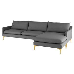 ANDERS SECTIONAL SLATE GREY - Dreamart Gallery