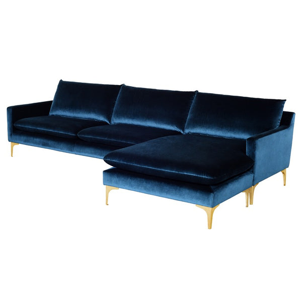 ANDERS SECTIONAL MIDNIGHT BLUE - Dream art Gallery