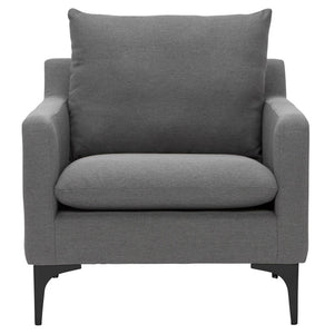 SLATE GREY ANDERS OCCASIONAL CHAIR - Dream art Gallery