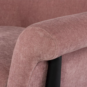 CHARLIZE OCCASIONAL CHAIR DUSTY ROSE - Dream art Gallery