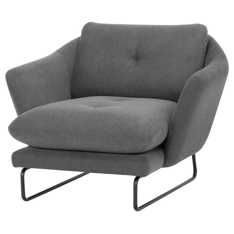 FRANKIE OCCASIONAL CHAIR GRAPHITE - Dream art Gallery