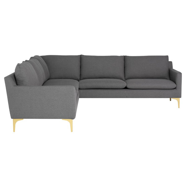 ANDERS L SECTIONAL Grey - Dream art Gallery