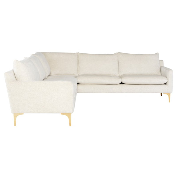 ANDERS L SECTIONAL Coconut - Dream art Gallery