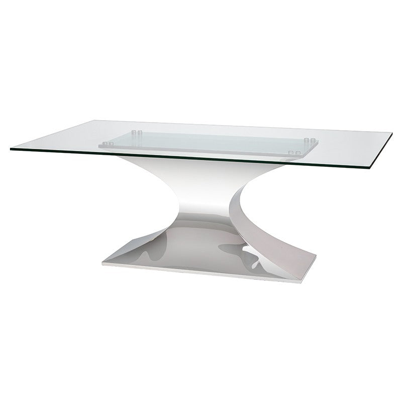 PRAETORIAN DINING TABLE GLASS - Dreamart Gallery