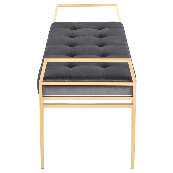 SOLANGE BENCH TARNISHED SILVER