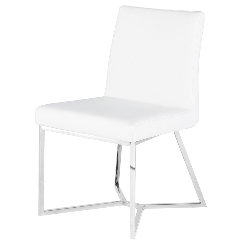 PATRICE DINING CHAIR WHITE - Dreamart Gallery